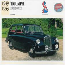 1949-1953 TRIUMPH MAYFLOWER Classic Car Photograph / Information Maxi Card