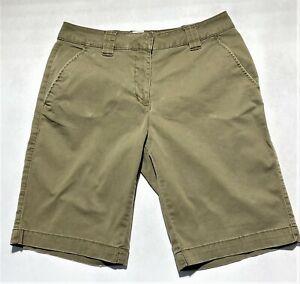 """ALPINE DESIGN Women's Brown Stretch Shorts Size 12 (Waist 33"""", Inseam 11"""")"""