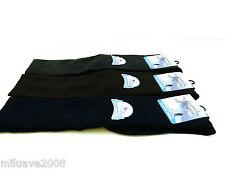 3 Pares calcetines socks TERMAL altos rizo puño antipresión T.U azul-marrón-gris