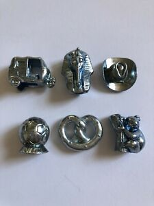 Monopoly Here & Now - Pewter Replacement Pieces Tokens Movers