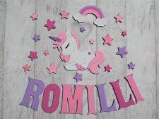 Unicorn Wall Sticker de conte de fées Fantasy Wall Decal filles chambre Nursery Decor