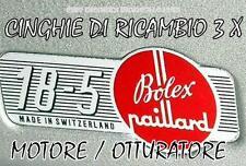 ★ CINGHIE DI RICAMBIO 3 x PROIETTORE 8 mm BOLEX 18-5,18-5 L,18-5 Super ★