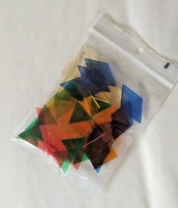Pattern Blocks - 48 Clear plastic pieces - mathematical shapes