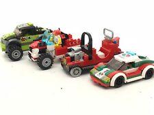 Lego Set of 4 cars vehicles minifigure monster truck Santa Claus