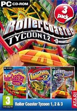 Rollercoaster Tycoon 1, 2 & 3 (PC DVD) (UK IMPORT) neuf sous blister