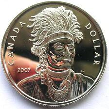 Canada 2007 Thayendanegea Dollar Silver Coin,Proof