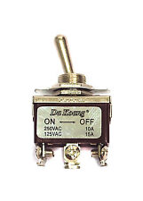 10pc Toggle Switch On-On 6P DPDT 15A 125V 10A 250V 10A Screw Terminal #5022