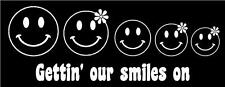 Happy Face Family Car Decal Stick Figure Sticker