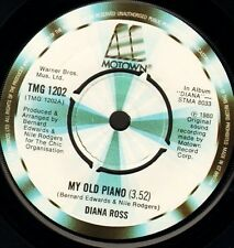 "DIANA ROSS my old piano 7"" WS EX/ uk motown TMG 1202"