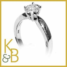 18ct White Gold 0.45pts Oval Ring With White Diamonds SIZE K 1/2 - 651 SALE!!!