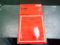 "vintage one inch paper O/S map sheet 129 ""Ludlow"""