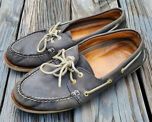 Sperry Top-Sider GOLD CUP 0219485 Men's Blue Leather 2-Eye Boat Shoes 11 M