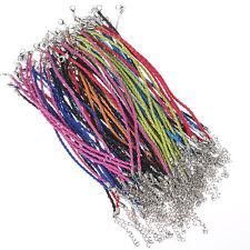 10pcs mix colours Braid leather bracelet fit European beads 3mm 21cm/8.26''