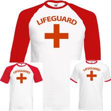 Mens Lifeguard T-Shirt Fancy Dress Costume Outfit Lifesaver Baywatch Surfing