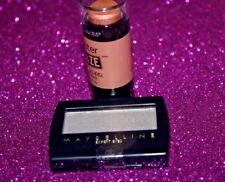 Maybelline Expert Wear Eyeshadow Single 135 PRETTY GREY + MASTER GLAZE BLUSH #40