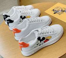 Disney Mickey Mouse White Casual Sport Women Flat Breathable Shoes FREE SHIPPING