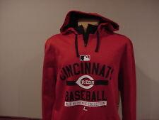 BEAUTIFUL Cincinnati Reds Men's Lg Majestic MLB Authentic Collection Hoodie, NEW