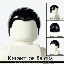 LEGO Minifigure Hair BLACK 92081 Male Boy Combed Front to Rear City Town
