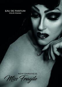 """Miss Fragile """"New Darkness"""", Eau de Parfum pour Femme, 10ml Taschenzerstäüber"""