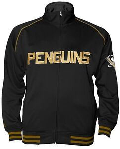 Pittsburgh Penguins NHL Mens Full Zip Center Ice Track Jacket Big & Tall Sizes
