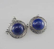 Cuff link Men's Jewelry Handmade Sterling Silver Lapis Vintage Style Success Jew