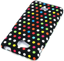 MetroPCS LG Spirit 4G MS870 HARD Protector Case Snap Phone Cover Rainbow Dots