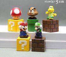 5 pcs Super Mario Bros Luigi Yoshi Action Figure Doll cake topper Play set Toy