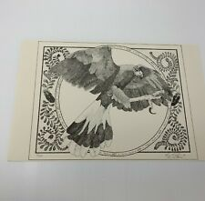 Harris Hawk Bird Print Numbered Signed 1996 Artist Signed 82 of 100 Limited Ed