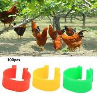 100 stücke 16mm Clip Auf Bein Band Ringe für Hühner Geflügel Enten Fasan Hü R1E2