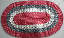 "Pack of (2) Oval Christmas Braided Floor Rug - Red/Green 18"" x 30"""