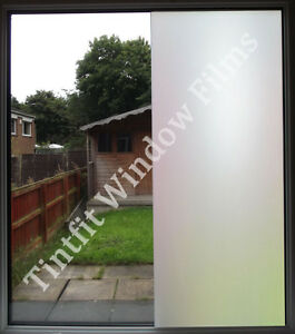 WHITE FROST 50cm x 1m - PRIVACY MATTE OPAL ETCH FROSTED WINDOW TINTING TINT FILM