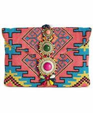 NWT Steve Madden Zada Envelope Clutch/Shoulder Bag Tribal Pattern Multi/Pink