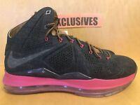 NIKE LEBRON X DENIM 2013 LIMITED 597806-400 Size 10.5