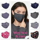 Face Mask Washable Reusable Adjustable Cotton Filter Pocket Nose Wire Adult UK
