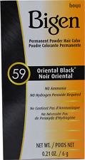 BIGEN PERMANENT POWDER HAIR COLOR #59 Oriental Black Plastic Bottle