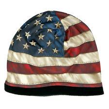 USA American FLAG Beanie Knit Skull Cap Motorcycle Biker Hat Ski Snow Patriotic