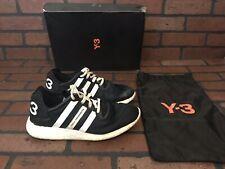 Adidas Y-3 Yohji Run Boost Yohji Yamamoto Black With White Stripes Sizr 6.5