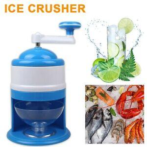 Portable Crank Ice Crusher Shaver Manual Block Shaving Machine Snow Cone Shaved