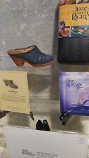 Just The Right Shoe Raine Denim Blues 25141 Box Coa 2001 Jtrs Gift Quality
