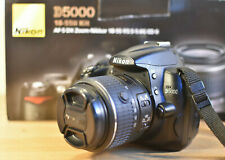 NIKON D5000 DSLR CAMERA KIT WITH NIKKOR VR LENS CHARGER BATTERY 4GB SD & BOX