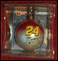 NASCAR Jeff Gordon #24 WINNERS CIRCLE glass ball ornament. Made in the USA