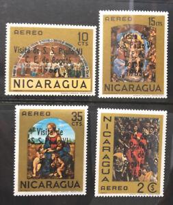 Nicaragua Stamp Set Sc 655-C658 MNH