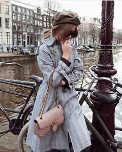 Zara Checked Trench Coat Size MEDIUM BNWT