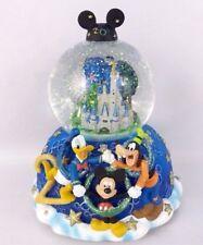 "Disney World 2000 ""Celebrate the Future"" Musical Snow Globe Mickey & Friends"