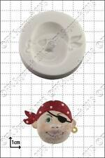 Silicone mould Pirate Face (2) | Food Use FPC Sugarcraft FREE UK shipping!