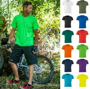 Mens Quick Dry Performance T Shirt Air Cool Leisure Tee Fitness Gym Running Top