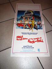 LOCANDINA 1960 TERZA LICEO E FU TEMPO DI ROCK ..vadim hossein AUTO CAR Jukebox