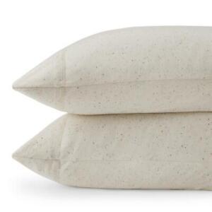 Calvin Klein Modern Cotton Pillowcases Standard Cream Multi Color Accent - Modal