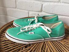 Vans Authentic Lo Pro Mint Leaf & White Sneakers Green Mens Sz 8 Lds Sz 9.5 Shoe