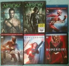 Cw Arrowverse Lot, Arrow / The Flash & Supergirl Dvds & Blu-Ray